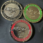 United States Space Force Halo Bit Coin Challenge Coin Lot Of 3