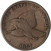 1857 Flying Eagle Cent Very Good Penny Vg Rim Ding See Pics C149