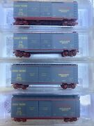 Micro-trains Up N Scale 40' Box 4 Car Union Pacific Challenger Runner Set Pack