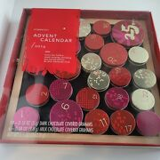 Starbucks 2014 Magnetic Advent Hanging Calendar With Empty Tins W/box