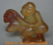 6.4 Chinese Hongshan Culture Crystal Carved Men And Women Lovers Statue