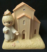 New 2004 Precious Moments Chapel Figurine 119642 - You Are Always Welcome Here