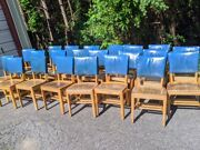 16 Vintage Desk Library/dining Chairs Birch Walnut Custom Bl Marble Chairs