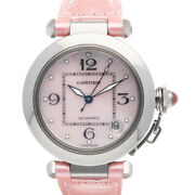 Watches Silver Pink Stainless Steel Leather Pasha M From Japan Used
