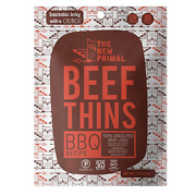 The New Primal Bbq Beef Thins Grass-fed Beef Jerky Thinly Sliced Whole30 High