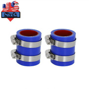 For Yamaha Banshee Exhaust Pipe Clamps 1 1/8 Fmf Toomey Blue Silicone 87-06 Us
