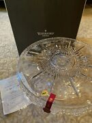 Waterford Crystal 12 Days Of Christmas Large Heavy Cake Plate Nib
