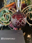 Waterford Crystal 2018 Ruby Ball Cased Christmas Ornament Brand New In Box