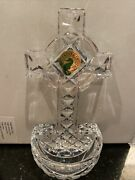 Waterford Holy Water Font Cross Crystal Decoration Lead Crystal Beautiful Nwob