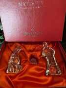 Waterford Crystal Nativity Collection Holy Family Joseph Mary Baby Jesus