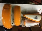 Nos Orange And Cream Fatboy Paint Set Tanks Front Rear Fenders Harley 1990-1992