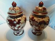Qing Dynasty Pair Of Large Chinese Red Foo Dog/dragon Porcelain Temple Jars 15