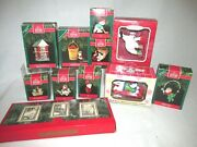Asstorted Hallmark Keepsake Christmas Ornaments And Decor 11 Pcs And Other Brands
