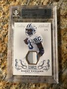 Barry Sanders Bgs 9 2013 National Treasures Century Materials Jersey Patch /5
