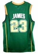 Lebron James Hand Signed Autographed St Vincent St Mary Irish Jersey With Coa