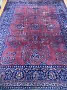 9and039 X 12and039 Antique Turkish Sa Rouk Oriental Rug - 1930s - Hand Made - 100 Wool