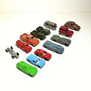 Lot Of 13 Vintage Tootsie Toy Jaguar Ford Gt Jeep Antique Die Cast Toy Cars