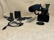 Canon Xf100 Hd Camcorder W/ Rode Ntg1 Microphone Missing Plastic Cable Cover