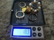 Lot Of Mixed 18k Gold Jewelry 19 Grams For Scrap