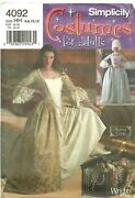 Simplicity Sewing Pattern Womenand039s Gown Dress Colonial Pirate 4092 6-8-10-12 Uc