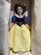 Disney Snow White Limited Edition Porcelain Doll Never Used Still In Box Read