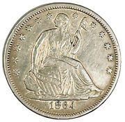 1864-s Seated Liberty Half Dollar Civil War Issue Very Tough Date Uncertified