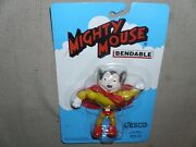 Vintage Mighty Mouse Bendable Figure Rare Mighty Mouse Bendy Brand New Momc 1990