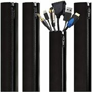 Eveo Cable Management Sleeves And Cable Sleeves Wrapper For Cords – 4 Cord Sl...