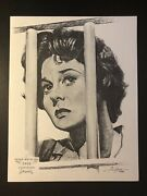 1962 Susan Hayward Academy Award Volpe Portrait 1958 Best Actress I Want To Live