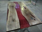 72 X 36 Epoxy Resin Center Table Top Wooden Handmade Work