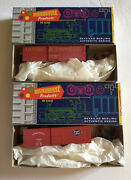 Roundhouse Lot Of 2- 36and039 Box Car Train Kit Gandd 212 Express 103 Mail Nib
