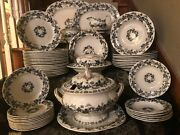 Large 52 Piece Set Of T Till And Son Ivy Pattern English Ironstone C1850-1861