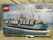Lego 10241 Maersk Line Triple-e Container Ship - New In Sealed Box