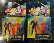 Batman Forever Two-face W/ Cannon And Coin Vintage Kenner 1995 Nm/m Lot Of 2