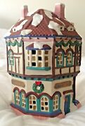 Dickens Christmas Village Houses Bakery Ceramic Lighted Holiday Decor