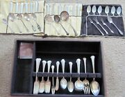 Chippendale Sterling 1937 By Towle Silver--106 Pieces With S Monogram