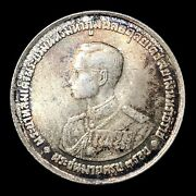 1963 Nd Thailand 20 Baht Y 86 Foreign Silver Coin Rama Ix 36th Birthday Toned