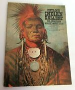 Vintage George Catlin's Indian Gallery Coloring Book Cutler 1972 64-page Western