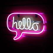 Hello Neon Signs For Wall Decor, Usb Operated Led Neon Lights For Man Cave,…