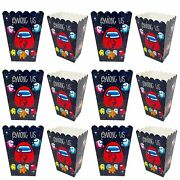 30 Among Game Party Popcorn Boxes Among Game Party Supplies Favors C Contai…