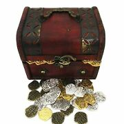 Toy Coins - Golden And Silver L Doubloons With Chest