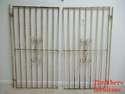 Pair Antique Wrought Iron Scrolled Security Doors Garden Gates W Hardware Hinges