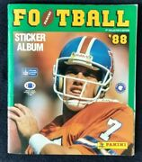 1988 Panini Nfl Football Collectors Album With 393 Stickers - Vintage -
