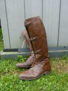 Wwi / Inter War British Military Army Officerand039s / Cavalry Leather Riding Boots
