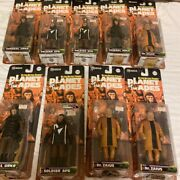Planet Of The Apes Action Figure Set Of 9 [soldier, General, Dr. Zaius] G6361