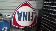 Vintage Original 1958 Fina Oil Co. 6and039 Porcelain Sign Awesome Condition