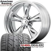 20 Inch Staggered American Torq Thrust Vn515 Wheels W/tires Chevy C10 Truck 5lug