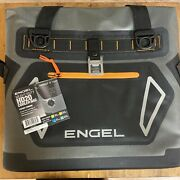 Engel Portable Waterproof Soft-sided Cooler Bag With Strap Orange Open Box