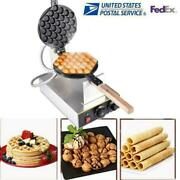 110v Electric Commercial Ice Cream Waffle Cone Baker Maker Machine Non-stick Us