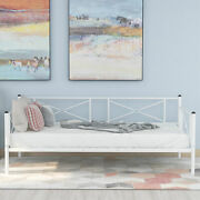 Metal Twin Daybed Frame With Vintage Headboard And Footboard